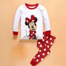 00e3744f08 Los niños lindos ropa de bebé niña Minnie dibujos animados de punto de los  niños pijamas de bebé traje de servicio a domicilio c.