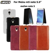 IMUCA оригинальный кожаный чехол для Meizu M5 note 5.5 дюймов флип чехол Роскошные искусственная кожа Обложка M5 Примечание meilan Примечание 5