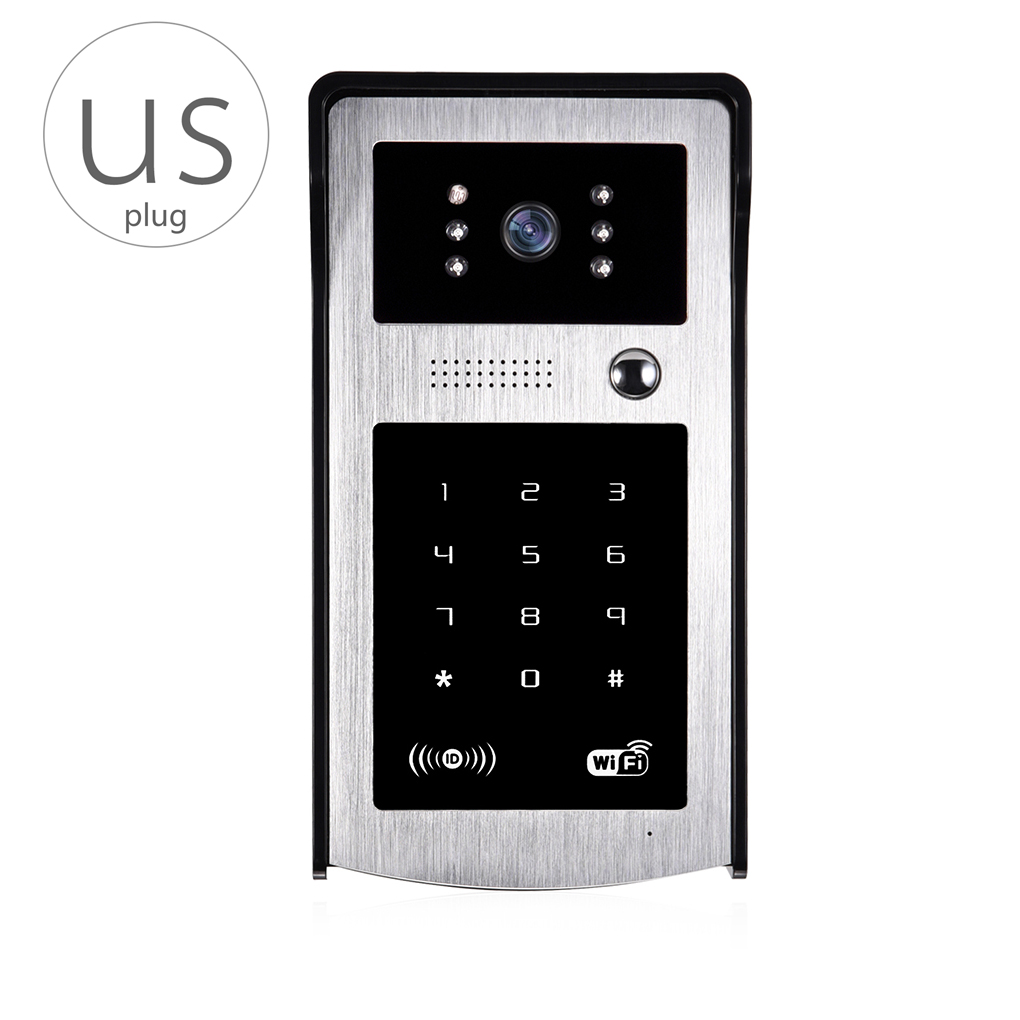 A8 Wifi Video Doorbell Wireless Video Intercom Doorbell with Motion Detection Night Vision Camera for Smart Phone kinco wifi remote control night vision video doorbell hd waterproof dtmf motion detection alarm smart home for smartphone