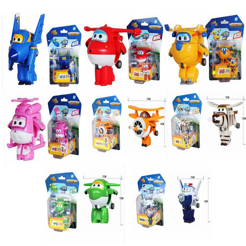 Original Box Super Wings toys Mini Transformation toys Robot Action Figure ABS Brinquedos kids toys for gifts 6 piece 10 14cm super mario action figure evade glue fair young car furnishing articles model holiday gifts ornament box packed