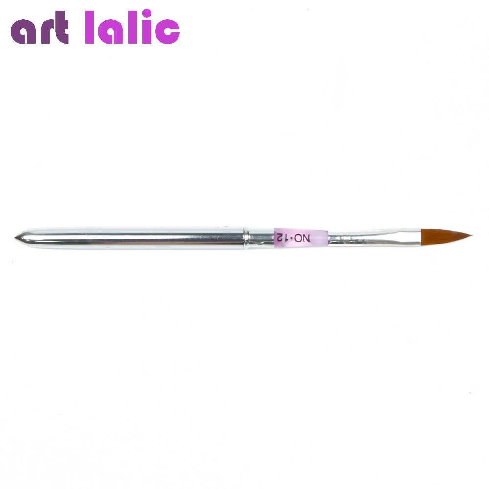6 قطعة/المجموعة 2 #/4 #/6 #/8 #/10 #12 # مسمار فرشاة فنية القلم الاكريليك منشئ فرش أقلام تصميم ل الاكريليك نحت مسمار نصائح