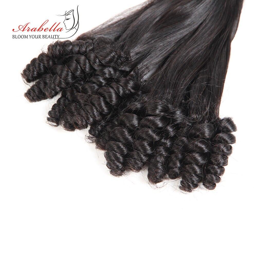 Arabella Funmi cheveux humains bouclés paquets brésiliens Remy cheveux 3 paquets couleur naturelle sans enchevêtrement pour Salon de coiffure
