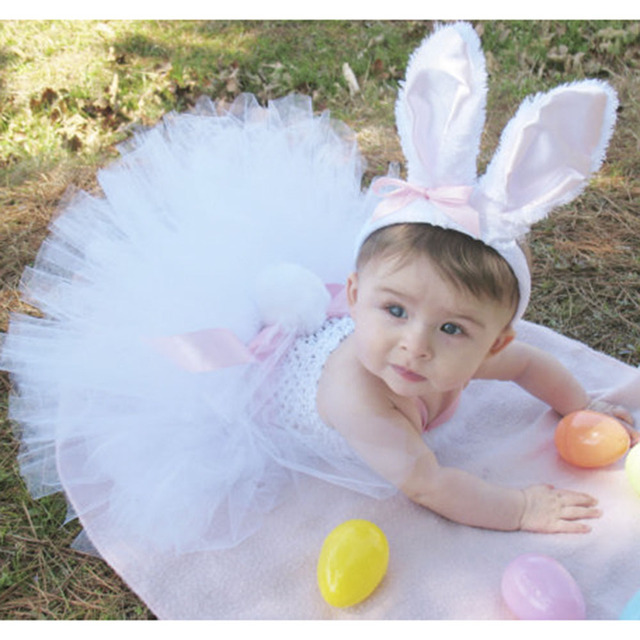 45d21851f03f Spring Girl Easter Bunny Dress Toddler Baby White Feather Rabbit Cosplay  Celebrate Custom With Pink Ear Headband Girls Dresses