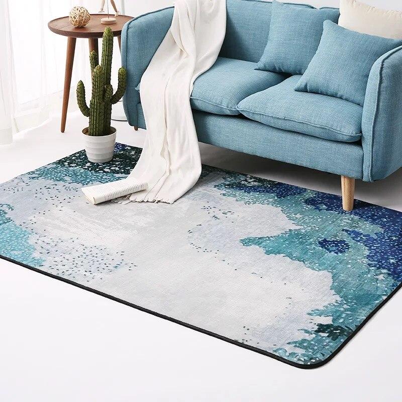 2017 nouveau Style européen salon tapis absorbant doux flanelle chambre tapis Aubusson géométrique tapis et tapis pour salon