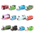 12 unids/lote thomas y sus amigos de trenes de juguete set plástico thomas tren con imán juguetes para niños juguetes para niños