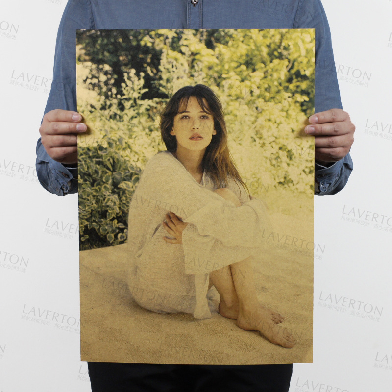Sophie Marceau B/ actress beauty/La Boum/kraft paper/Cafe/bar poster/Retro Poster/decorative painting 51x35.5cmFree shipping