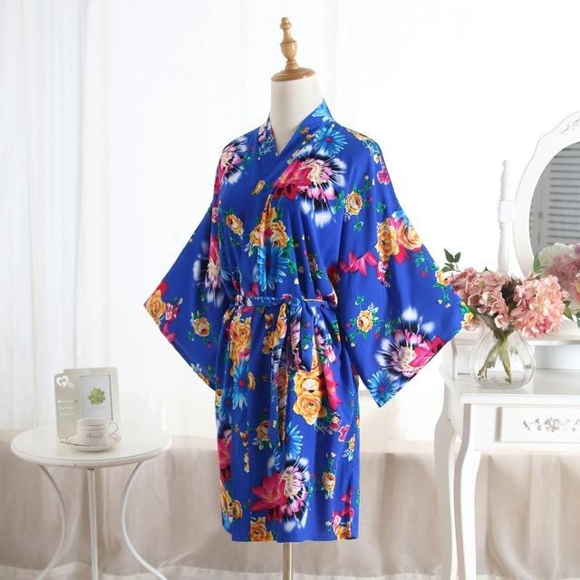 Kimono Kapas Gamis 2019 Baru Berpakaian Gaun untuk Wanita Cetak Bridesmaid  Jubah Seksi Baju Tidur Baju 7a3d66bb8f