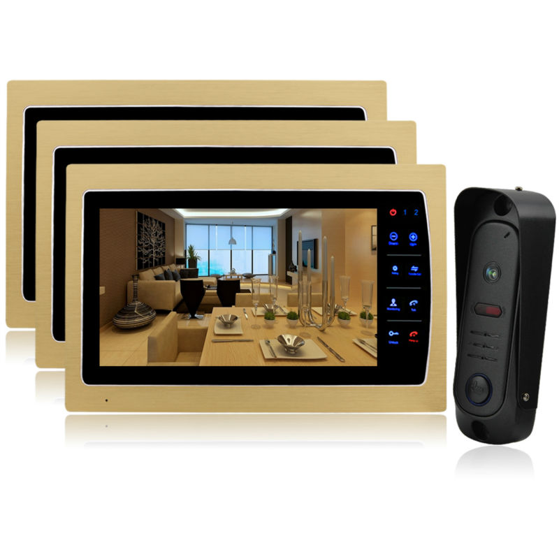 Homefong 10 Home Wired Video Door Phone Audio Visual Intercom Entry System For Villa Dual way intercom support sd Ip65  1V3 homefong 10 home wired video door phone audio visual intercom entry system for villa dual way intercom support sd ip65 1v3