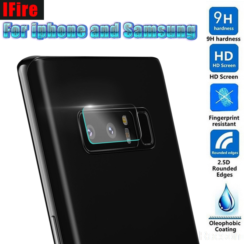 IFire Camera Lens Protective film For Samsung Galaxy Note 8 5 S8 S7 S6 Edge Camera Lens glass film For iPhone X 6 7 8 PLUS