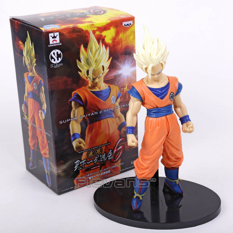 Banpresto SCultures Dragon Ball Z Son Gokou Action Figure 21.5cm Dragon Ball Goku Model Toy Figuras DBZ Super Saiyan 2 Son Goku genuine bandai exclusive tamashii nation 10th anniversary s h figuarts dragon ball z son gokou goku kaiohken ver action figure