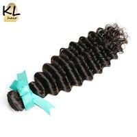 KL Hair Deep Wave Brazilian Virgin Hair Bundles 100 Human Hair Weaving Natural Color 8 28