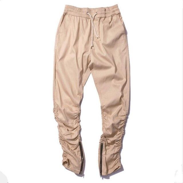 8eea242a61 US $27.99 5% di SCONTO|Caldo! Uomo casual hip hop cerniera laterale  pantaloni jogger pantaloni della tuta mens elastico harem pants punk hiphop  ...