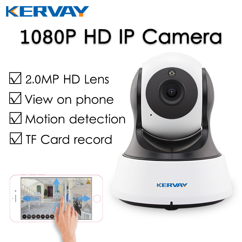 Kervay 1080P Full 2MP HD Wifi IP Camera CCTV Wireless ...