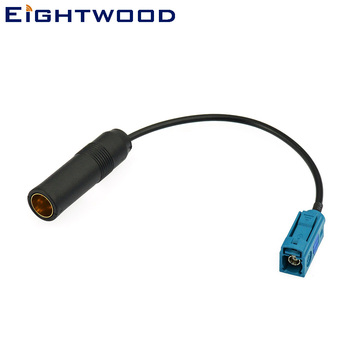 Eightwood Car DAB AM FM Radio Antenna Adapter Cable Fakra Female to Din Female Aerial Adapter Cable RG174 for Ford Audi BMW Seat image