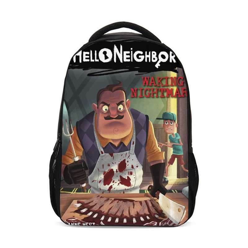 5afc4cc155 Backpack For Boys Girls Fashion Cartoon Funny Games Hello Neighbor Pattern School  Bags Teenage Children Bookbag