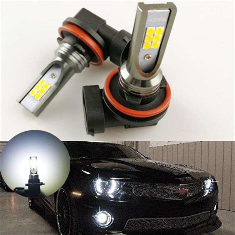 Надеясь автомобиля светодиодные лампы 9005 HB3 9006 HB4 <font><b>LED</b></font> яркий белый светодиод для вождения Бег противотуманные бездорожью света 6000 К 2 шт.