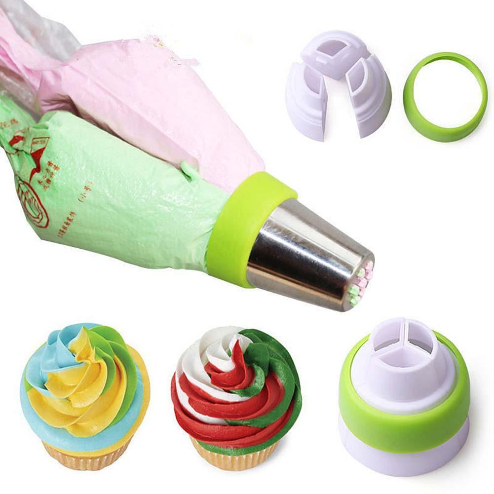 1set colors piping bags icing pastry bag nozzles decorating set cupcake baking tools supplies for Kitchen accessories cupcake design