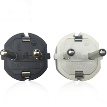 5PCS 250V16 A EU AC Power Adapter Socket  Connector Cable Electrical Plug White Black Male Converter Adaptor Detachable Plug цена