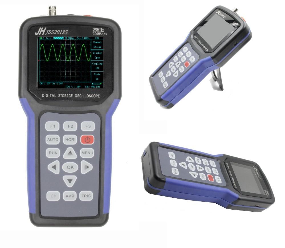 все цены на JDS2012S 4000 Counts Digital Multimeter 25MHz 200MSa/s Professional JDS2012S Handheld Digital Oscilloscope JDS2012S онлайн