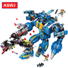 Enlighten Building Block High-Tech Era Mecha Man War Bricks Model Playmobil Deformation Robot Classic Gifts For Kids Legoes цена 2017