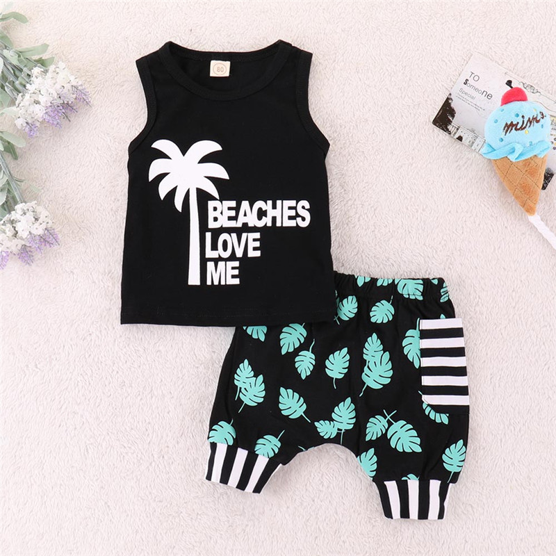 Telotuny Clothing Set For Baby Boys Girls Summer Clothing Set Letter Print T-shirt+shorts Set Outfits Beaches Love Me Ju 19 A Great Variety Of Goods Boys' Clothing Clothing Sets