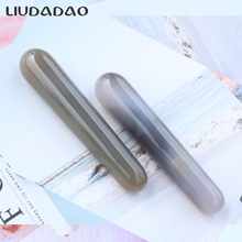 Grey Carnelian Acupoint Stick Jade Massager Wands Natural Stone Smooth Yoni Wands For Women