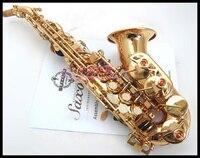 High Quality SUZUKI Soprano B B Tune Saxophone Musical Instruments Professional B Flat Pearl Buttons Brass