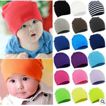 1pc Baby Hat Children Baby Caps Cotton Unisex Girls Boys Hats Newborn Photography Props Candy Color Beanies Accessories
