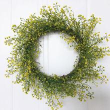 Искусственные листья венок 18 дюймов винные веточки база венок весенний сезон украшения двери венок
