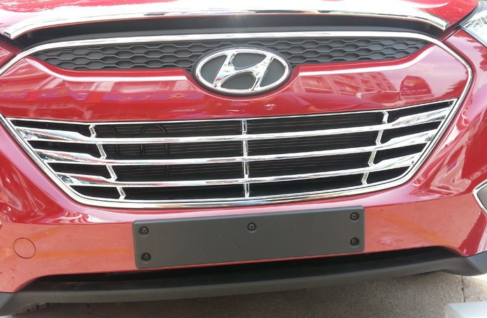 ABS Chrome Front Grille Around Trim Racing Grills Trim for 2012 Hyundai ix35