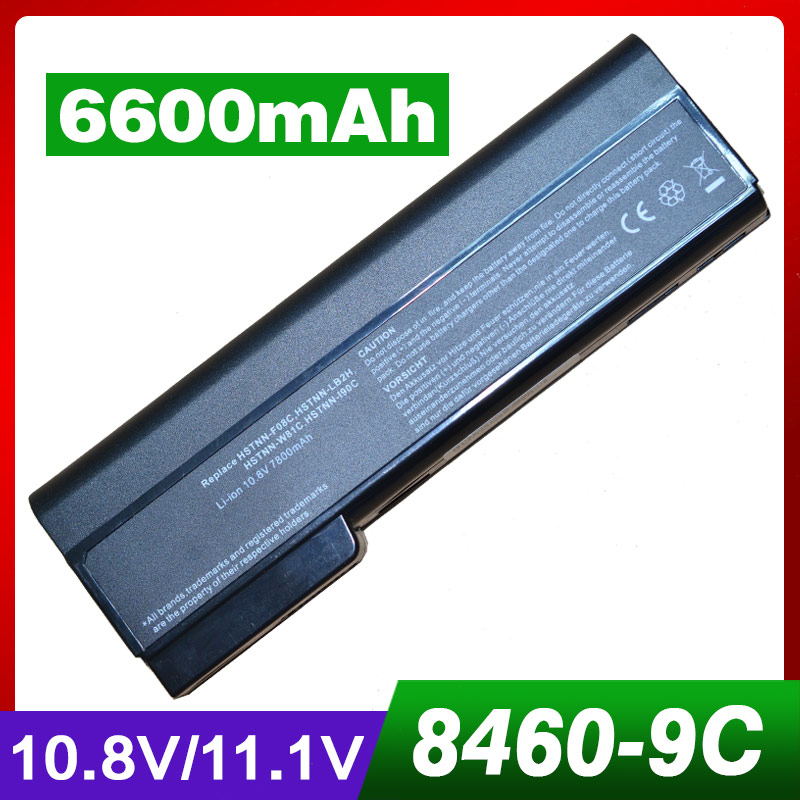 6600mAh laptop <font><b>battery</b></font> for HP EliteBook 8460 8470p 8470w 8560p <font><b>8570p</b></font> ProBook 6360b 6460b 6465b 6470b 6475b 6560b 6565b 6570b image