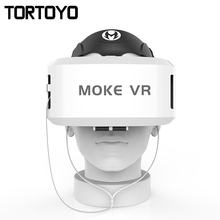 New Arrival MOKE VR CASE 3D VR Box Glasses Ultra-clear Coated Len Virtual Reality Helmet for IOS Android 4.7-6.0 Inch Smartphone