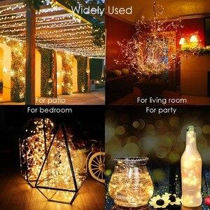 Solar String Fairy Lights 12m 100LED / 5M 50 LED Waterproof Outdoor Garland Solar Power Lamp Christmas For Garden Decoration