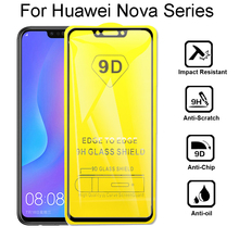2pcs 9D Full Cover Tempered Glass For Huawei Nova 2 2i 3 3i 3e 4 Screen Protector Lite  Protective Film