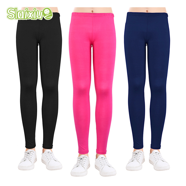 4dc3187f88cb64 Candy Colors Girls Leggings Baby Girl Pencil Pants Modal Ankle-length  Leggings Skinny Legging for