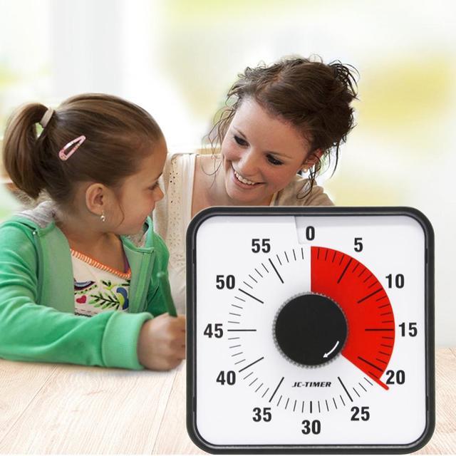 Minuterie visuelle de 60 minutes silencieuse, minuterie compte à rebours pour enfants et adultes, salle de classe ou conférence