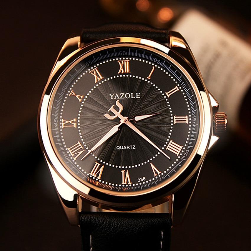 YAZOLE 2019 Business Watch Männer Top Marke Luxus Quarz Handgelenk Uhren Klassische Mode Leder Männlich Armbanduhr Uhr Reloj Hombre-in Quarz-Uhren aus Uhren bei title=