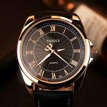 YAZOLE 2019 Business Watch Men Top Brand Luxury Quartz Wrist Watches Classic Fashion Leather Male Wristwatch Clock Reloj Hombre