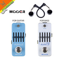 MOOER 5 Bands Guitar EQ Graphic G Guitarra Equalizer Effects Pedal Graphic B Bass EQ Equalizer Mini Pedal 36dB big Adjustability