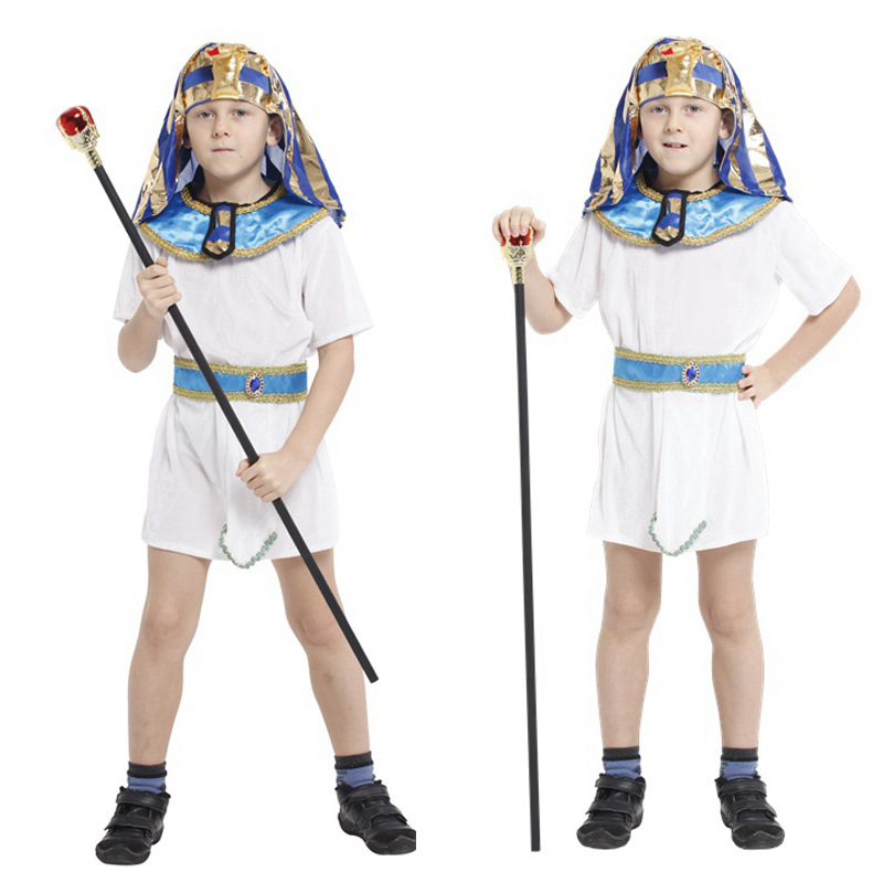 Halloween Role-play Egyptian Pharaoh Prince Costume Suit COSPLAY