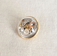 Free Shipping Handcrafted Steampunk Brooch Gears Lapel Pin Steam Punk Gears Accessories