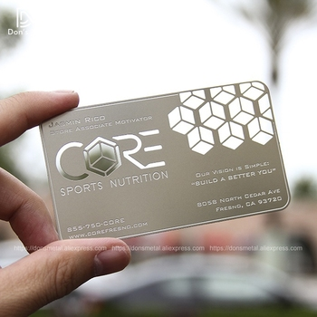 Stainless steel business card custom metal membership card design metal business card production