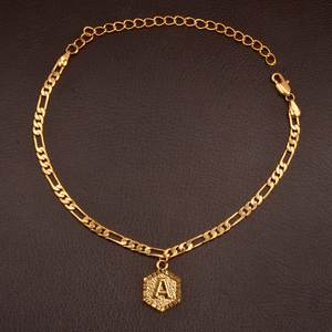 Anniyo Length 22cm Letter Anklet for Women Foot Chain Girl