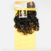 YXCHERISHAIR Synthetic Curly Hair Extensions Bundles Ombre Color High Temperature Fiber Weaves Soft Wave Braided New