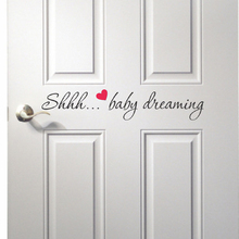 Shhh... Baby Dreaming Quote Wall Sticker Children Room Decal Easy Kids Decor Quotes Cut Vinyl Q209