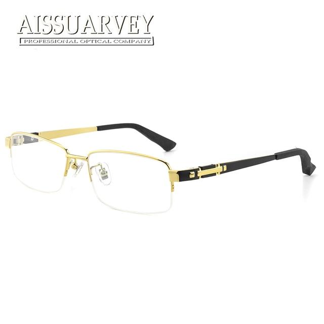 eebec10e60 Titanium Wooden Men Eyeglasses Frame Optical Eyewear Prescription Top Quality  Glasses Frame Business Luxury Classic Black Golden