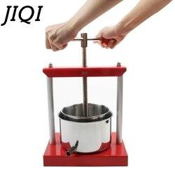 Exprimidor Manual de acero inoxidable JIQI, exprimidor de prensa de cítricos de limón y naranja, Extractor lento, exprimidor de aceite para zumo de fruta y vino