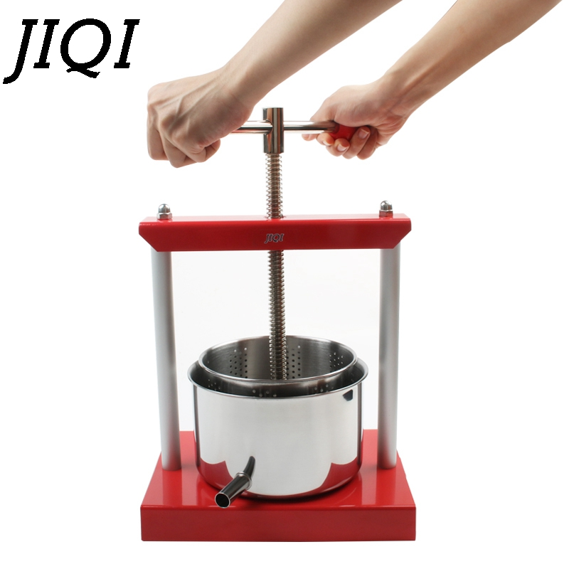 JIQI Stainless Steel Manual Squeezer Orange Lemon Citrus Press Juicer Slow Extractor Hand Fruit Juice Wine Separator Oil Pourer