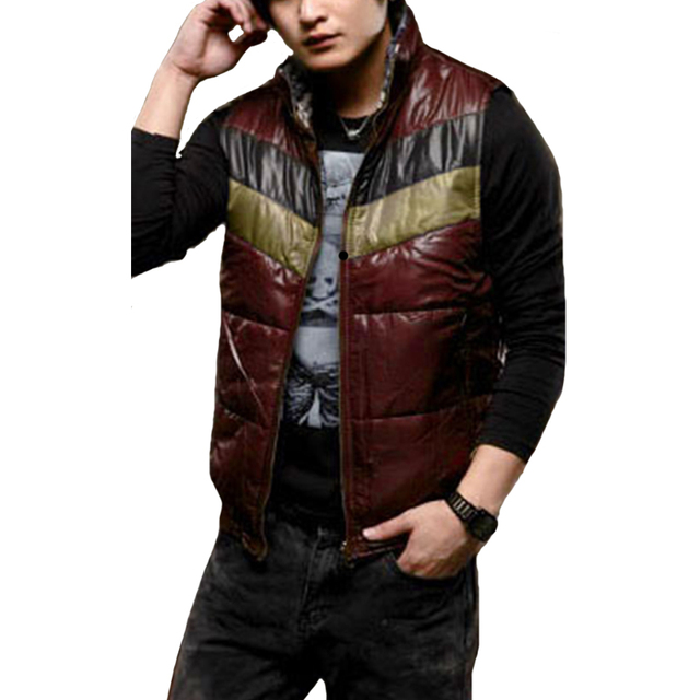 New Arrival Brand Men Both Sides to Wear Vest Winter Autumn Sleeveless Men Outwear Men Clothing Casual Zipper Hot Sale 2017