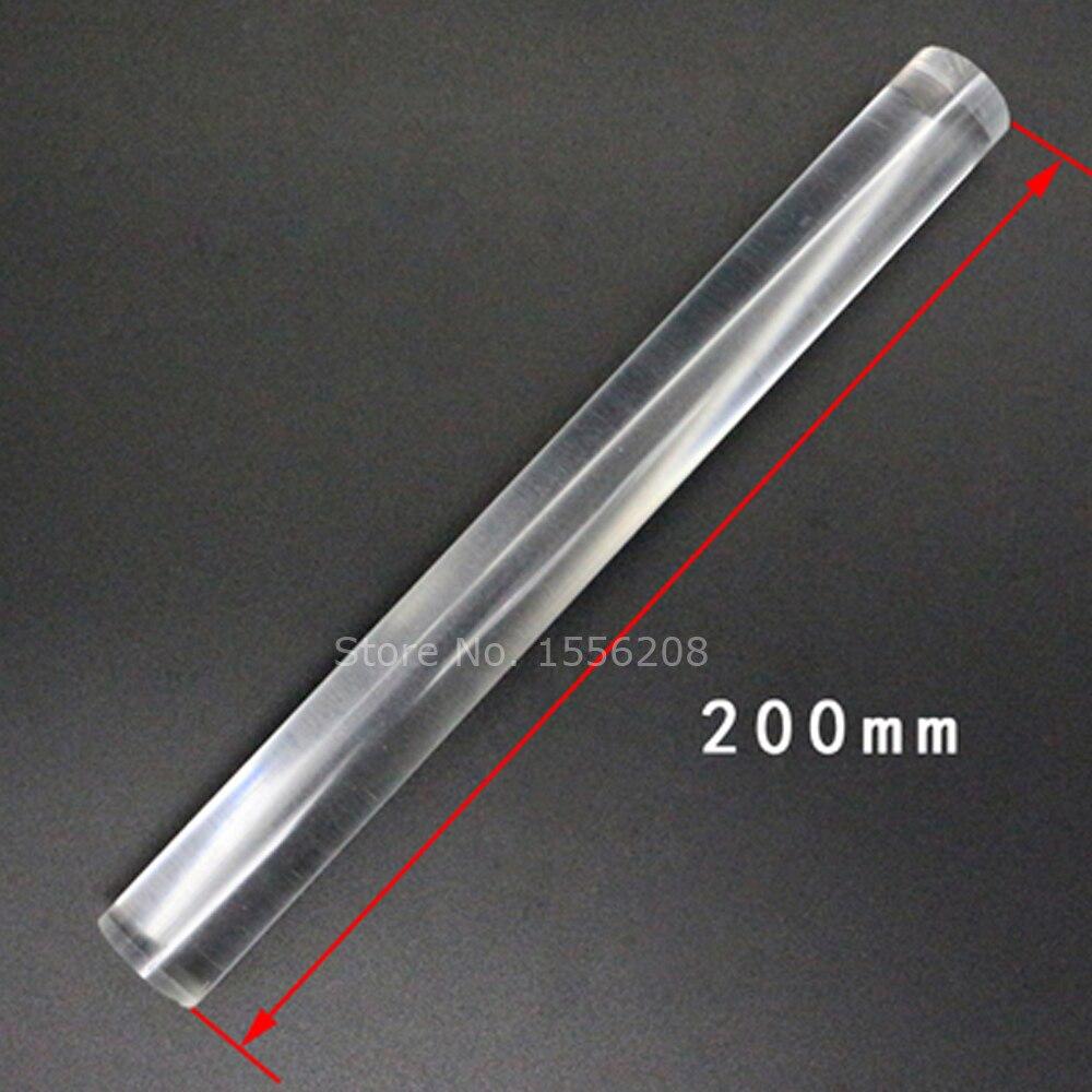 1pcs Clear Acrylic Plexiglass Lucite Rod 200mm Length Round Pmma Bar